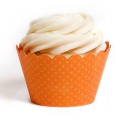 Emma Cupcake Wrappers - Orange from The TomKat Studio Shop www.shoptomkat.com