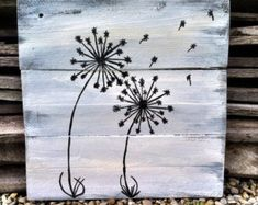 Dandelion Faith Pallet sign inspirational by AmbersWoodenBoutique