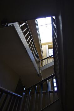 servants' back stairs