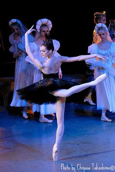 Ulyana Lopatkina as Odile in Tokyo Ballet's Swan Lake. Tokyo, 2006