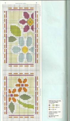 Gallery.ru / Фото #11 - ponto cruz 11 - ergoxeiro Cross Stitch Bookmarks, Cross Stitch Charts, Counted Cross Stitch Patterns, Cross Stitch Embroidery, Tapete Floral, Cross Stitching, Beading Patterns, Knit Crochet, Kids Rugs