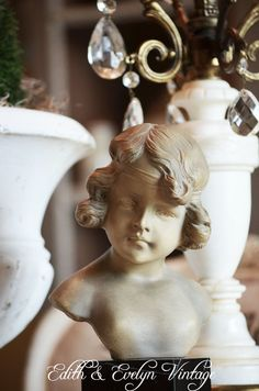 Vintage French Bust Statue Signed A Carli Made by edithandevelyn on Etsy