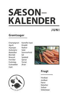 Sæsonkalender Juni