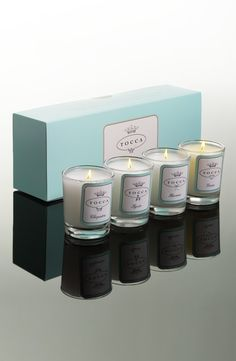 So precious. Tocca Travel Votive Set.