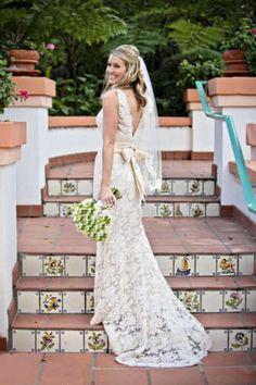 Lace Wide Strap Wedding Dress