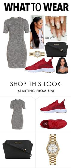 """Untitled #176"" by bavone05 on Polyvore featuring French Connection, NIKE, MICHAEL Michael Kors, RALPH and Rolex"