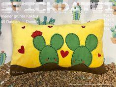 Stickmuster - Kaktus 10x10-18x30 Doodle Stickatei - ein Designerstück von GretevomLaendle bei DaWanda