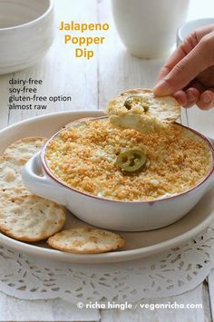 Jalapeno Popper Dip - Vegan Glutenfree Recipe Raw option