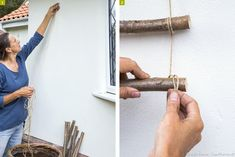 How to make yourself a wooden trellis - Wooden Trellis, Potager Garden, Backyard Makeover, Garden Care, Vegetable Garden, Make It Yourself, How To Make, Patio, Design