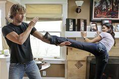#NCISLA Behind the scenes with Deeks and Kensi (Olsen/Ruah)