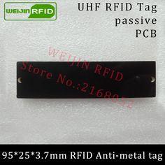 UHF RFID anti-metal tag 915mhz 868mhz Alien Higgs3 EPCC1G2 6C 95*25*3.7mm long reading distance PCB smart card passive RFID tags #Affiliate