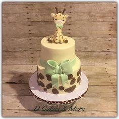 D cakes & more baby shower ideas giraffe birthday parties, giraffe part Torta Baby Shower, Safari Baby Shower Cake, Baby Shower Giraffe, Baby Shower Niño, Shower Bebe, Baby Girl Shower Themes, Elephant Baby Showers, Baby Shower Cupcakes, Gender Neutral Baby Shower