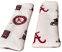 "Amazon.com: Custom & Durable {6"" x 2"" Inch} 2 Set Pack, Small Size ""Non-Slip"" Pot Holders Made of Cotton for Carrying Hot Dishes w/ Summer Crimson Alabama College Football Style [White, Red, & Black]: Home & Kitchen"