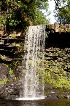 A charming waterfall in Brecon Beacons National Park of Wales. Idyllic and inviting natural scenery. Travel Sights, Places To Travel, Travel Tourism, The Places Youll Go, Places To Visit, British Travel, Brecon Beacons, Destinations, Excursion