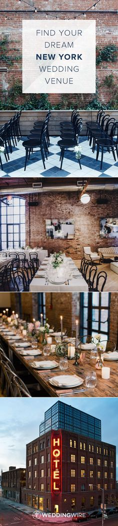 Looking for a 5 star wedding venue in New York? Click to find your wedding reception or ceremony location on @weddingwire. {Photos courtesy of Wythe Hotel}