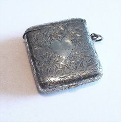 Rare 19thC  Double Sovereign/Match Case - Sterling Silver