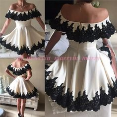 New Arrival Ivory Short Homecoming Dresses 2015 A Line Off Shoulder Plus Size Black Lace Appliques Prom Graduation Formal Party Dresses Short Homecoming Gowns Plus Size Prom Dresses Lace Party Gowns Online with $169.15/Piece on In_marry's Store | DHgate.com