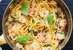 Tagliolini cu creveti , pancetta si spanac – Chef Nicolaie Tomescu Mai, Ethnic Recipes