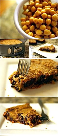 Chic chip chickpea cookie pie