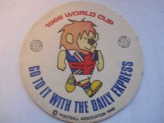 ENGLAND..1966 WORLD CUP WILLIE BEERMAT...GO TO IT WITH THE DAILY EXPRESS (c) FA | eBay