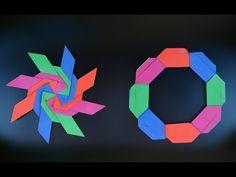 Super origami star - bright rotating star out of paper (Origami Swirl Star Torus by Yuri Shumakov) Ninja Star Origami, Star Wars Origami, Origami Turtle, Origami Cat, Origami Paper Art, Modular Origami, Origami Elephant, Origami Templates, Origami Tutorial