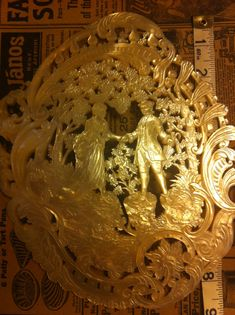 Exquisite Mother Of Pearl Carved Plaque by flappergirlvintage, $3200.00