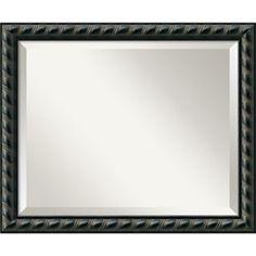 Pequot Black Wall Mirror - Medium