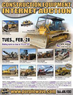 February 28 construction equipment auction - http://www.purplewave.com/a/120228