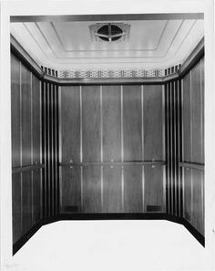 The Higbee Company ~ Interior of an Elevator car made by W. S. Tyler Co. for new store, the Higbee Company