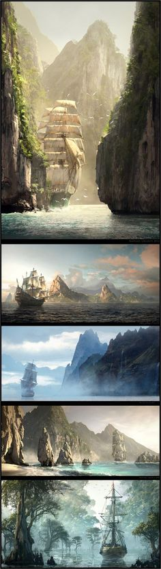 concept art for Assassin's Creed IV: Black Flag by artist Raphael Lacoste