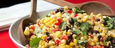 A medley of sweet corn, hearty black beans, golden quinoa and fresh herbs make this an eye-catching salad recipe, packed full of protein and fiber.