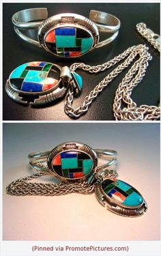 Inlaid Gemstone Set CAROLYN POLLACK Sterling Silver Bracelet & Necklace, Relios, Vintage #jewelryset #carolynpollack #sterlingsilver #inlay #gemstones #bracelet #necklace #vintage https://www.etsy.com/RenaissanceFair/listing/539940541/inlaid-gemstone-set-carolyn-pollack?ref=listings_manager_grid  (Pinned using https://PromotePictures.com)
