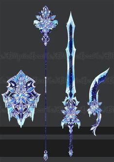 24 New Ideas Weapon Concept Art Draw Fantasy Sword, Fantasy Art, Armas Ninja, Arte Fashion, Cool Swords, Sword Design, Anime Weapons, Magical Jewelry, Weapon Concept Art