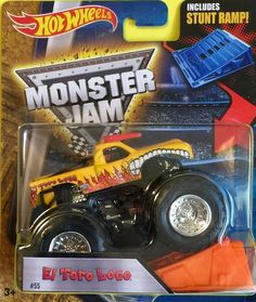 Hot Wheels Monster Jam Truck 1:64 Scale Stunt Ramp El Toro Loco #55