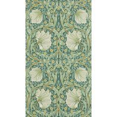 Morris & Co. Pimpernel   Perigold Foyer Wallpaper, Wallpaper Roll, Wallpaper Ideas, Upstairs Bathrooms, Wedding Envelopes, William Morris, Sisal, Envelope Liners, Art Nouveau