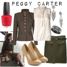 Character: Peggy Carter Fandom: Marvel Film: Captain America I don't really love her, but the jacket is awesome