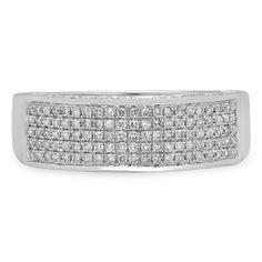 14k Gold 1/2ct TDW Round Diamond Anniversary Band Wedding Ring