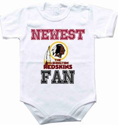 Baby bodysuit Newest fan Washington Redskins by rockbabysuit