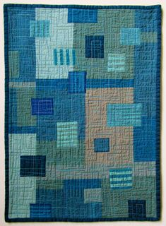 https://flic.kr/p/92pNB4 | Boro Blues - Stitched Patched and Quilted Wall Hanging | Inspired by the often erratic and eccentric stitching found in some Japanese Boro pieces.