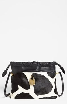 """Burberry 'Little Crush"""" Calf Hair & Leather Crossbody Bag available at #Nordstrom"""