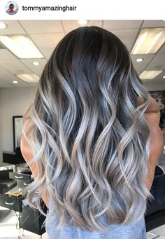 15 Stunning Silver Blonde Hair Color Ideas for 2019 - Style My Hairs Brown Hair Balayage, Hair Color Balayage, Blonde Balayage, Hair Highlights, Silver Blonde Hair, Brunette Hair, Grey Hair, Ombré Hair, Pinterest Hair