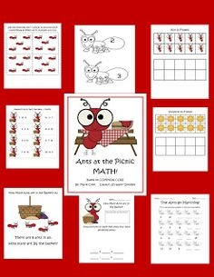 ANTS, and a FREEBIE! This pack is for sale but there are free count by five ant cards.