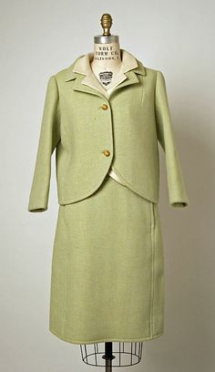 Suit (circa 1966-68) for House of Balenciaga. The Metropolitan Museum of Art; Gift of Mrs. Walter C. Baker, 1974