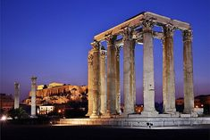 Greece Art & Architecture Temple of Olympian Zeus, Athens, Attica searched by NEΦEΛH AΓΓEΛΛOY. I wanna go here so bad Greece Art, Athens Greece, Ancient Ruins, Ancient Greece, Ancient Architecture, Art And Architecture, Historical Architecture, Temples, The Places Youll Go