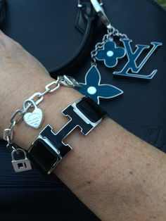 Hermes clic clac, Tiffany and Co bracelet