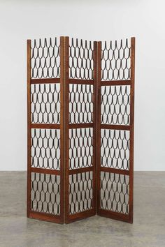 Three-panel screen by Philip Lloyd Powell and Paul Evans, 1960s | From a unique collection of antique and modern screens at http://www.1stdibs.com/furniture/more-furniture-collectibles/screens/