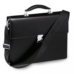 Mont Blanc Leather Briefcase    Stock code: 126413 Once university is finished its off into the big wide world. What a better way to prepare your friends and family with a stunning single gusset briefcase. It features a detachable shoulder strap and is made from European full-grain cowhide with unique Montblanc deep shine.