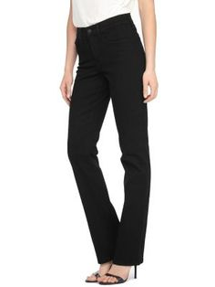 d31d6388938 NYDJ Marilyn Slim Classic Overdye Jeans Black Jeans