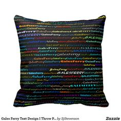 Gales Ferry Text Design I Throw Pillow