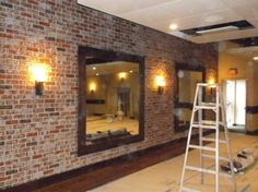 Want to find out about cheap sheds? Then here is without doubt the right place! Faux Brick Panels, Brick Paneling, Brick Accent Walls, Brick Wall, Wood Wall, Loft Style Bedroom, Shed Sizes, Gym Room At Home, Brick Interior